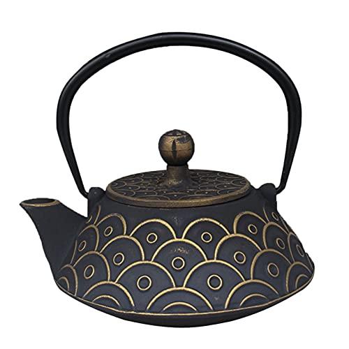 Czarnki czajnik do herbaty czarnej retro i trwały czajnik metalowy, duża pojemność teaketka nadaje się do pieca (Color : A)