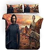 ZJJIAM Star Wars - Juego de funda nórdica y funda de almohada (microfibra, impresión digital 3D, funda de almohada y funda de almohada)