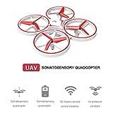 RXRENXIA Drone pour Les Enfants, Drone ZF04 RC 2.4Ghz 6 Haches LED Gravité DéTection Infrarouge Infrarouge Surveillance ContrôLe Watch Watch, Drone Quadcopter avec Altitude Hold