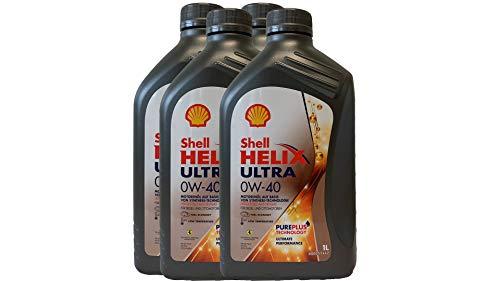 Preisvergleich Produktbild 4x1 Liter Shell 0W-40 Helix Ultra 0W40 Motoröl Porsche A40; Renault RN0700,  RN0710; MB 229.