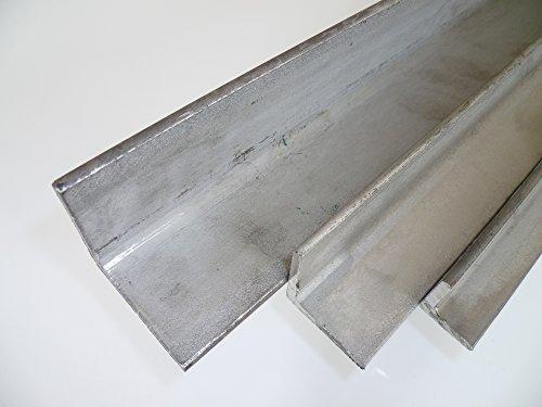 B&T Metall Edelstahl Winkel gewalzt 20x20x3 mm in Längen à 2000 mm +0/-3 mm V2A Winkel 1.4301