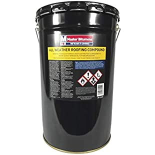 ALL WEATHER ROOFING COMPOUND BITUMEN WATERPROOF ROOF COATING 25 LITRE