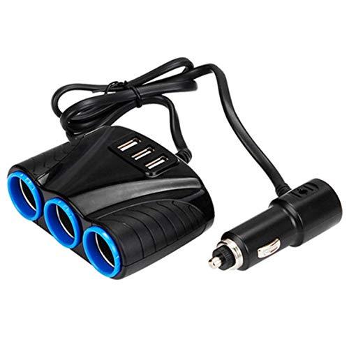 Tree-on-Life Portátil 3 Puertos USB 3 vías Auto Sockets Encendedor de Cigarrillos...