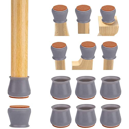Mogzank Tapa para Patas de Silla con Almohadillas de Fieltro, 40 Protectores de Patas Antideslizantes para Sillas, Almohadillas Suaves para Patas de Muebles para Pisos de Madera