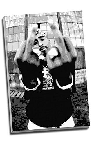 "Kunstdruck auf Leinwand, Motiv ""Tupac Shakur, 2Pac, Hip Hop"", Wandkunst, großes A1-Format,76,2x 50,8cm"