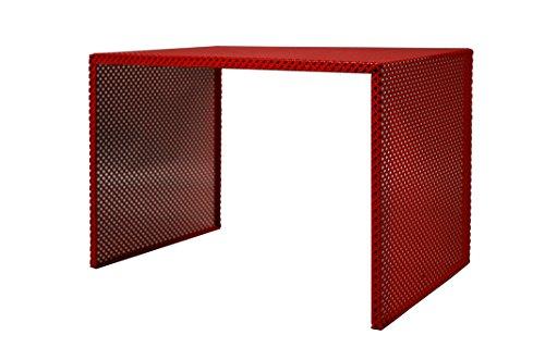 Tosel Zarina 1 Table Basse, Acier, Rouge, 48 x 40 x 40 cm