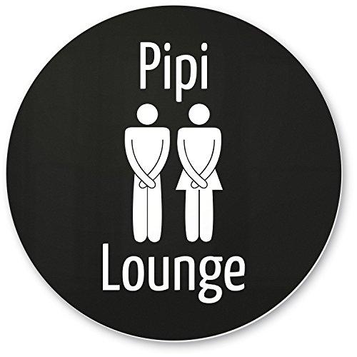 DankeDir! PIPI Lounge Deko WC Kunststoff Schild schwarz (20 x 20 cm), Witziges Dekoschild - lustige Wanddeko/Türschild Toilette, Gäste WC, Gästetoilette, Besuchertoilette - Kloschild Einladung Gäste