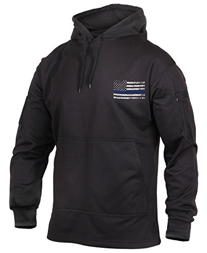 Rothco Thin Blue Line Concealed Carry Hoodie, M, Black
