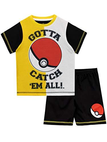 Pokemon Pijamas de Manga Corta para...