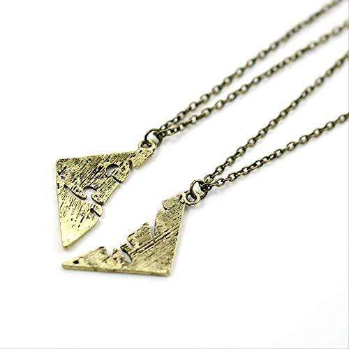 Liuqingzhou Co.,ltd Collar Collar Instrumentos Ciudad de Huesos Collar aleación runas Amistad Parejas Colgante para Hombres y Mujeres Collar para Parejas