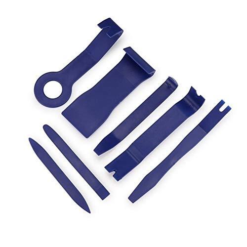 Anxia 7pcs Hartplastik Auto Autoradio-Panel-Innentür-Clip-Panel Trim Armaturenbrett Entfernen Öffnungswerkzeug Set DIY Auto-Reparatur-Werkzeug-Kit (Color : Blue)