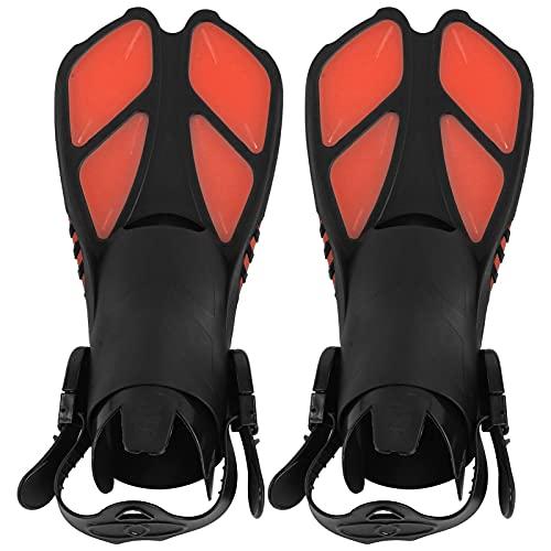 VGEBY 1 par de Aletas de Snorkel, Aletas de natación Ajustables Aletas de Buceo de talón Abierto TPR Aletas de Buceo largas(M)