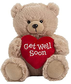 Ganz 9  Get Well Soon Teddy Bear with Red Heart Stuffed Animal for Comfort and Love