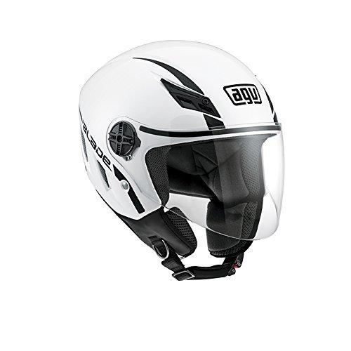 AGV 0421A4A0 Casco Moto Blade E2205 Solid, Bianco, 5