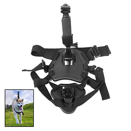 Jinshen Arnés para perro con correa para el pecho, arnés ajustable para mascotas al aire libre chaleco para DJI OSMO bolsillo de mano Gimabal accesorios de cámara