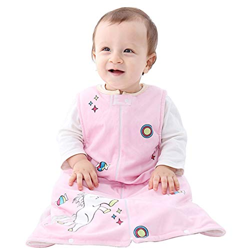 Michley Baby slaapzak deken pyjama licht baby meisje mouwen pyjama slapers 6-36 maanden Größe 75 (Alter: 2-3 Jahre) roze