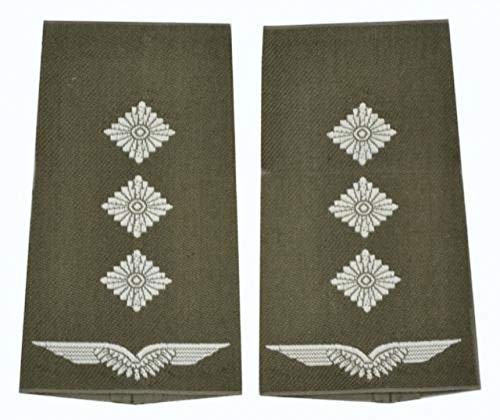 A.Blöchl Bundeswehr Luftwaffe Rangschlaufen Oliv - Silber (Hauptmann)