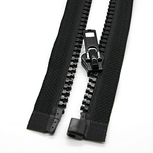 2PCS #5 27 Inch Separating Jacket Zippers for Sewing Coats...