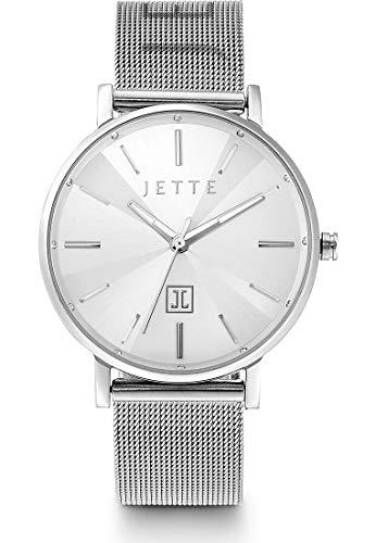 JETTE Damen-Uhren Analog Quarz One Size Silber 32013684