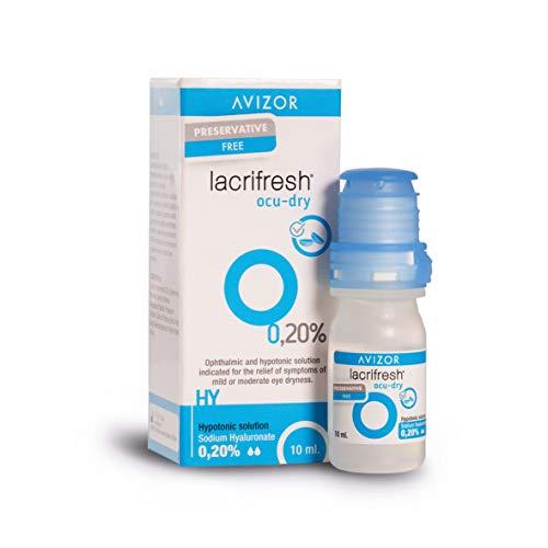 Avizor Frasco de 10ml de gotas oculares para aliviar los síntomas de la irritación ocular. (Lacrifresh Ocu-Dry 0.20%)