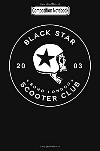 Composition Notebook: Black Star Scooter Club Biker Trike Touring Training Trips City Notebook Journal/Notebook Blank Lined Ruled 6x9 100 Pages