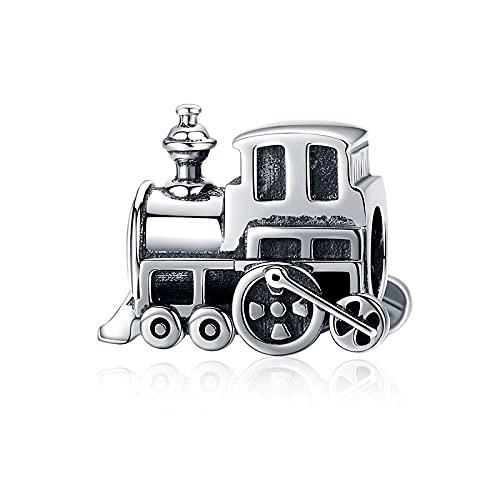 LISHOU Frauen 925 Sterling Silber Prinzessin Rinder Kürbis Auto Kinderwagen Bus Rad Boot Anhänger Perlen Charm Armband DIY Schmuck Machen D5