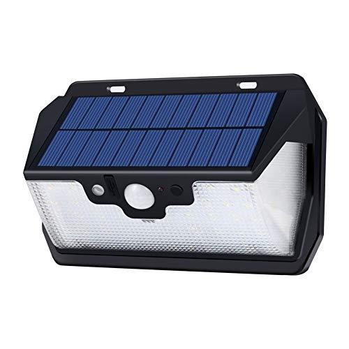 XuCesfs Luces de pared Energía Patio Lámpara de Seguridad con Control Remoto USB Recargable 53 LED de Energía Solar Detección Remota