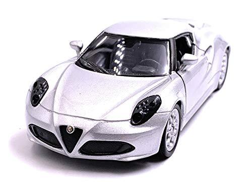Onlineworld2013 4c sportwagen modelauto auto schaal 1:34 (gelicentieerd) zilver