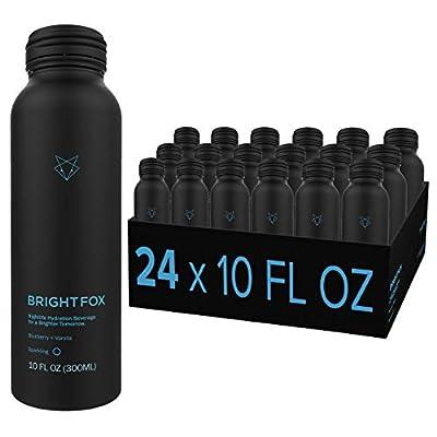 BrightFox Hydration | Sparkling Water | Vitamins (B5, B6, E) Minerals (Zinc, Choline) Antioxidants & Electrolytes | ZERO sugar sweeteners calories coloring stimulants | 100% Hydration | 24 Pack