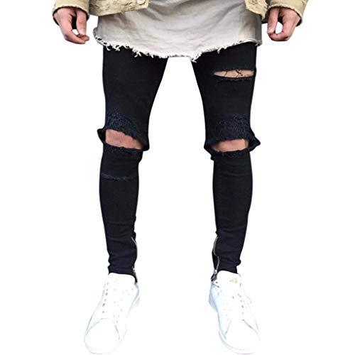 HOMEBABY Heren Zwarte Skinny Jeans Knopen Klassieke Was Hip Hop Werk Broek Herfst Denim Katoen Broek Casual Plus Size