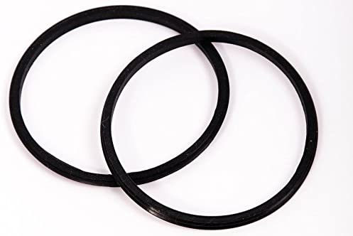 2 Pack Replacement Rubber Gasket Seal Ring 30 ounce oz Tumbler Vacuum Stainless Steel Cup Flex Spare O-Ring Top Lid CocoStraw Brand 2 Pack Gaskets 30oz + Handle
