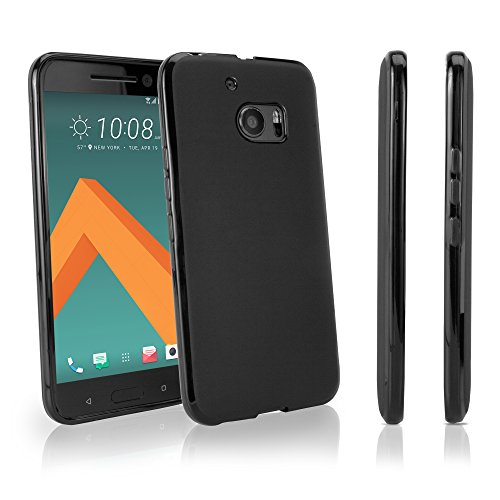HTC One (M10) Case, BoxWave [Blackout Case] Durable, Slim Fit, Black TPU Cover for HTC One (M10)