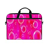 Bubbles On Pink 15-15.4 inch Laptop Sleeve Case Notebook Waterproof Computer Bag