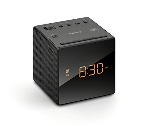 Sony ICFC-1 Alarm Clock Radio LED Black (Renewed)