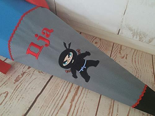 #221 Prinzessin, Ninja, Kämpfer Schultüte Zuckertüte Stoff + Papprohling + als Kissen verwendbar
