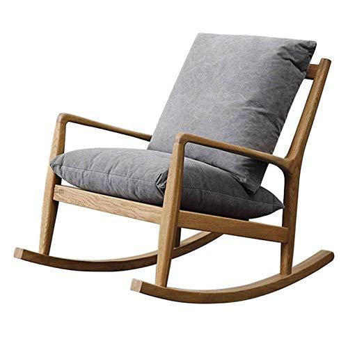 QWEA Relax Silla reclinable Mecedora Cómoda, PE Rattan Muebles de Patio Sillas de Exterior Sillón Todo Marco de aleación de Aluminio, para jardín Césped Balcón Patio Trasero