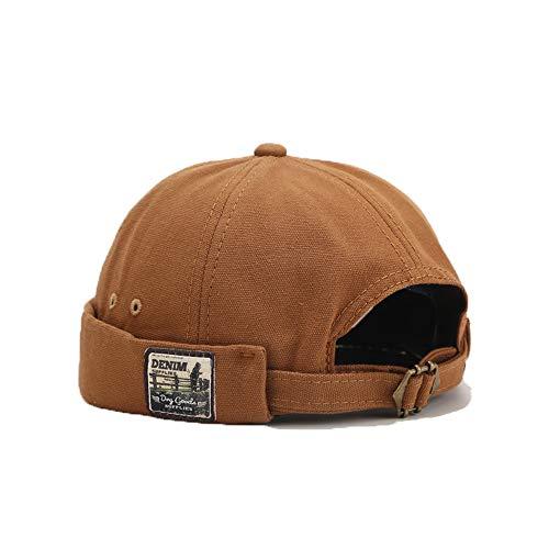 YAMEE Chapeau docker, unisexe, casquette, béret, bonnet de marin, pour la randonnée, taille du tour de tête ajustable, DZM34 / Kaki, taille unique