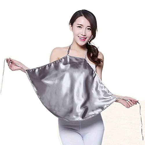 MOZHANG Toda la correa de fibra de plata Anti-Radiación Vestido de maternidad Anti-Radiación Vestidos De Maternidad Tanques de maternidad Toda la correa de fibra de plata Anti-Radiación 360 ° Blindaje