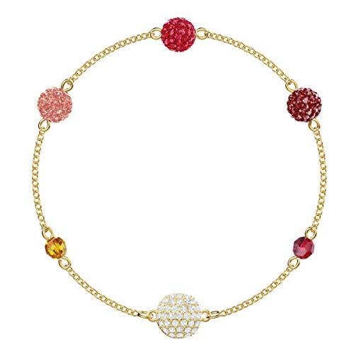 Swarovski Remix Collection Armband voor vrouwen, pop-strand, veelkleurig kristal, roodgoud glanzende afwerking