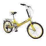 Paseo Bicicleta Plegable Bicicleta de Carretera Bicicleta Mini Bicicleta de montaña Bicicleta de Velocidad Variable Bicicleta 20'16 velocidades (Color : Pink, Size : 150 * 60 * 114cm)