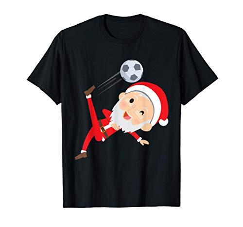 A Santa Claus le encanta el fútbol en Navidad Camiseta