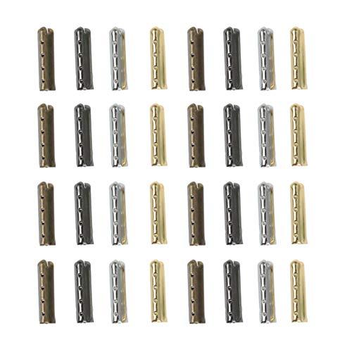 SUPVOX 80 Stück Schnürsenkel-Spitzenkopf, glatte Ersatz-Metallenden, Aglet-Spitzen mit Kugelform, für Paracord-Schuhe, Kleidung, Spitze, DIY-Reparatur