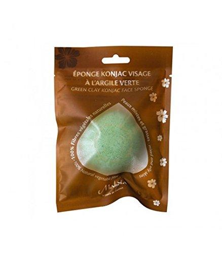 Esponja facial natural konjac arcilla verde 1 unidad (Verde)