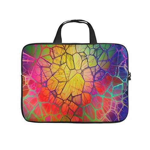 Funda para portátil con diseño geométrico abstracto de rombos, antiestática, multicolor