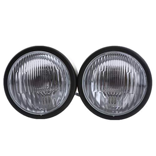 Backbayia Stirnlampe, Doppelscheinwerfer, Motorrad, Frontlicht, mit Halterung