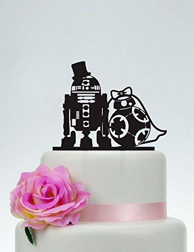 Frog Studio Home Wedding Cake Topper,Star Wars Cake Topper,R2D2 & Bb8 Cake Topper, Acrylic Custom Cake Topper,Love Cake Topper,Star Wars Silhouette P152