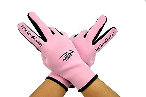 Tauchen Handschuhe Druck Komfortable Rutschfeste Manuelle Tauchen Stoff Surfen Wassersport Einfache Schnorcheln Handschuhe 2Mm (Color : Rosa, Size : XL)