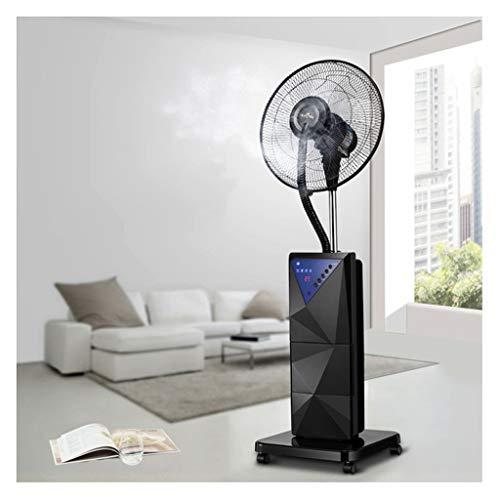 Standventilator Turbo Drehbarer Standventilator Industriekühlventilator mit Fernbedienung und LED-Anzeige Leiser Turmzerstäubungskopf Add Water Misting 4 Speed