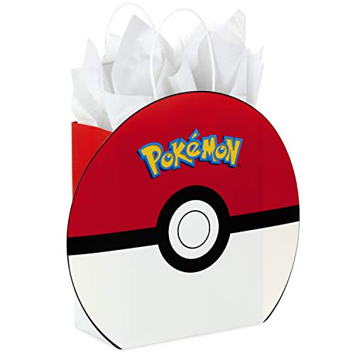 "Hallmark 9"" Medium Pokémon Gift Bag with Tissue Paper for Birthdays, Valentines Day, Kids Parties, Holidays and More"