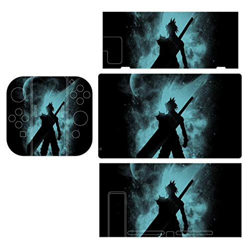 Ex Soldier Sihouette Cloud Strife Final Fantasy VII Theme Switch exclusive skin, Nintendo Switch sticker protective film, Switch full device exclusive skin sticker protective film